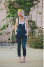 Navy-overall-free-pants