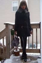 f21 coat - Hot Topic pants - Joan & David shoes - vintage lace Sonia Rykiel purs