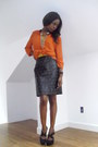 Leather-studded-vintage-skirt-f21-shoes-h-m-shirt-f21-accessories