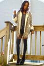 Vintage-coat-alain-manoukian-shirt-thrifted-shorts-f21-socks-bcbg-shoes