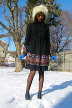 Untagged hat - Tracy ReeseAnthropologie coat - f21 skirt - Target boots - vintag