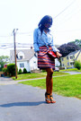 H-m-shirt-animal-skin-vintage-bag-striped-cotton-vintage-skirt