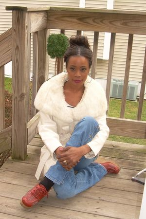 vintage faux furleather jacket - cache flairs jeans - vintage rubber wedge shoes