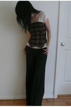 banana republic top - pants - top