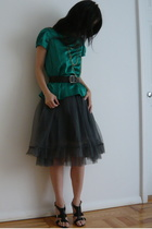 Club Monaco blouse - Patrizia Pepe skirt - Boutique 9 shoes - Patrizia Pepe belt