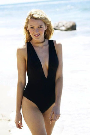 black monokini swimwear