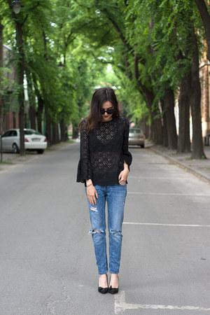 H&M swimwear - Zara jeans - H&M blouse - H&M bracelet - H&M ring