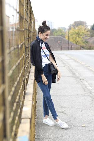 H&M jeans - H&M jacket - H&M shirt - sammydress bag - H&M sneakers