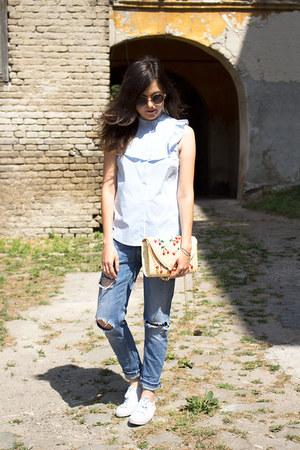 shein bag - Zara jeans - H&M shirt - New Yorker sneakers