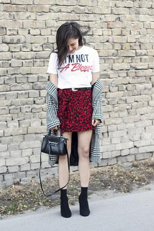 H&M bag - zaful coat - Zara shirt - H&M belt - Zara skirt