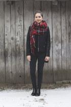 Yoins jacket - Gant boots - Vero Moda jeans - PERSUNMALL scarf - Calliope bag