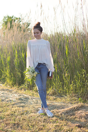 H&M jeans - dresslily bag - H&M ring - H&M blouse - Napapijri sneakers