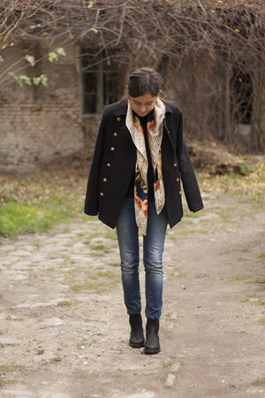 Gant boots - Sheinside coat - New Yorker jeans