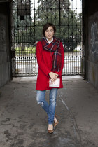 PERSUNMALL scarf - Sheinsidecom coat - legend jeans - Choies bag