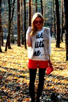 Zara shorts - Forever21 shirt - H&M tights - vintage sunglasses