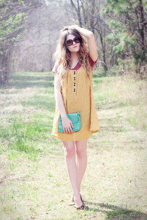 f21 dress - asos sunglasses