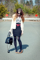 windsor cardigan - theIT bag - f21 top - UO wedges