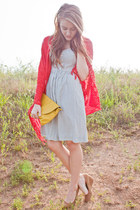 American Eagle dress - Ross purse - canvas Urban Outfitters pumps