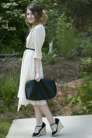 cardigan - dress - bag