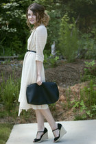 cardigan - dress - bag