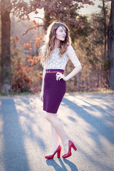 f21 skirt - pink lace H&M dress