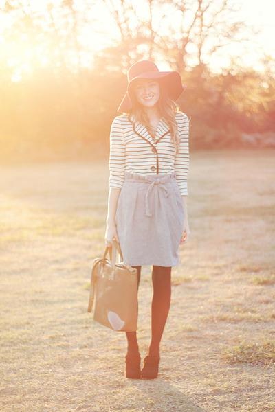 skirt - Karen Kane blazer - f21 purse