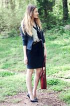 f21 blazer - Simone Firenze bag - Jessica Simpson heels - H&M skirt