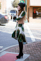 Karen Kane dress - Karen Kane hat - ann taylor vest - heels