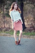 Karen Kane blouse - f21 shirt - f21 skirt