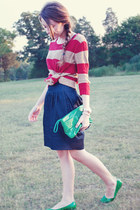 UO flats - UO sweater - Target skirt - Fossil watch