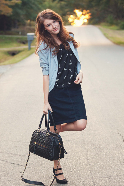UO heels - Target shirt - quilted theIT bag - f21 skirt