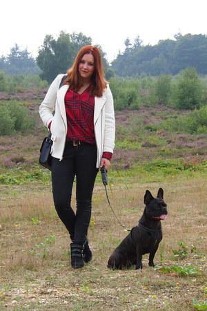 Zara coat - Primark boots - Primark bag - Zara pants - Primark blouse