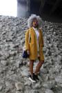 White-forever-21-dress-mustard-zara-coat