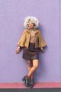 Black-steve-madden-boots-light-brown-zara-cape-dark-brown-zara-skirt