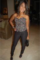 American Apparel blouse - pants - BCBG shoes - accessories - bag