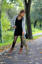 black Stradivarius socks - tawny leather stone creck shoes