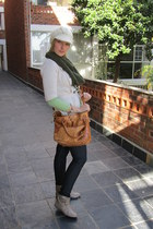 beige Mr Price boots - dark gray River Trader jeans - off white Edgars hat - oli