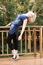 blue Insync top - black Edgars leggings - black Mr Price shoes