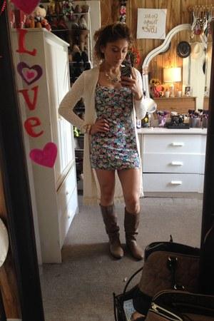 teal Forever21 dress