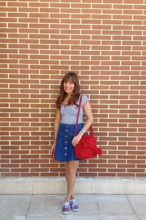 H&M skirt - PepaLoves bag - modcloth top