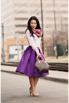 purple midi Chicwish skirt - light pink The Limited sweater