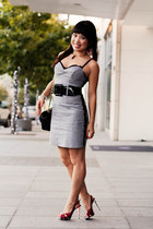 charcoal gray Guess dress