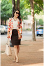 Salmon-oasap-blazer-white-banana-republi-shirt-dark-brown-talbots-skirt