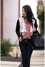 Navy-rag-bone-jeans-white-floral-moto-target-jacket