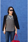 Navy-henry-belle-jeans-black-loft-blazer-white-windowpane-j-crew-shirt