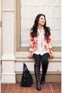 Black-vince-camuto-boots-bubble-gum-floral-oasap-blazer