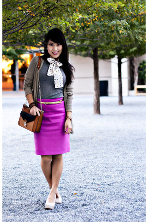 eggshell Marco Santi shoes - heather gray scarf neck-tie MNG by Mango shirt