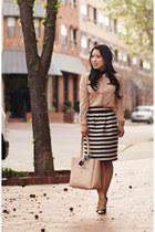 black Sole Society shoes - light pink sammydress shirt - beige ann taylor bag