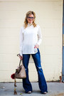 Navy-celebrity-pink-jeans-camel-see-by-chloé-bag-silver-polette-glasses