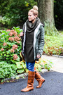 Tawny-frye-boots-navy-joes-jeans-jeans-forest-green-coffee-shop-coats-jacket